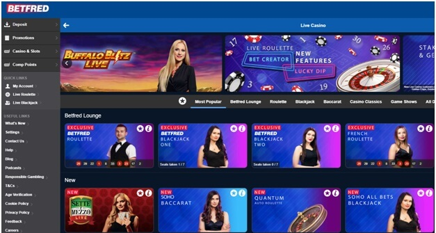 Betfred online live casino