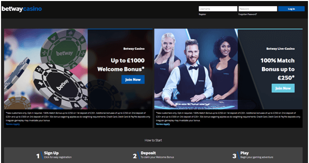 Betway UK Casino