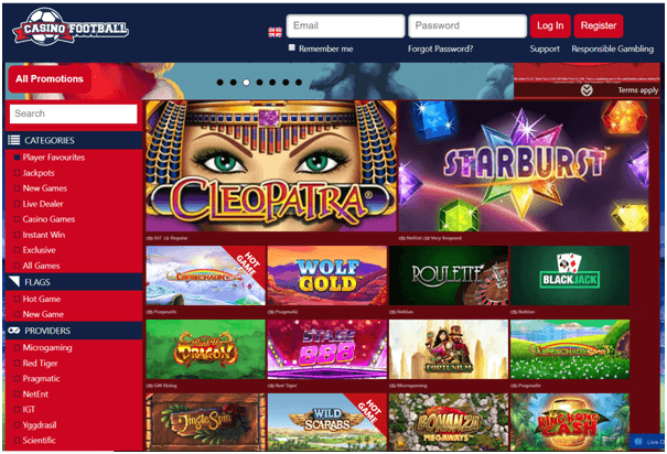 Casino Football to play Slots in Euros
