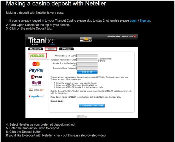 Casino Neteller deposit