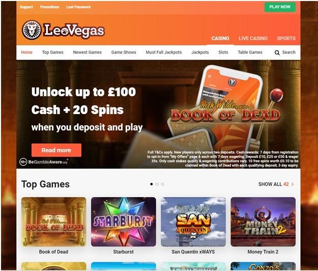 Leo Vegas UK Casino
