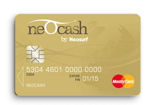 Neosurf cards