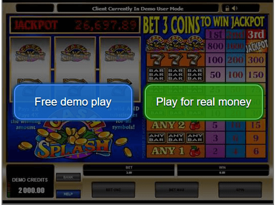 Play for real or free slots