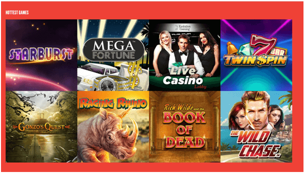 Rizk Casino Games to play