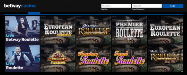 Different Roulette Games on Betway