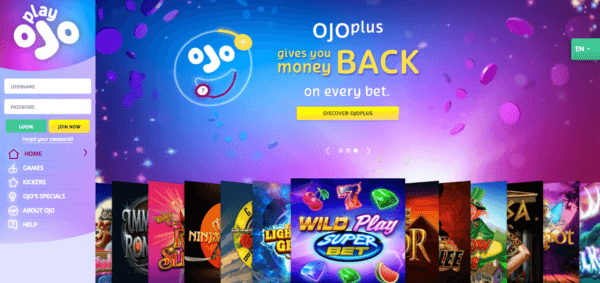 Play Ojo, the online casino.
