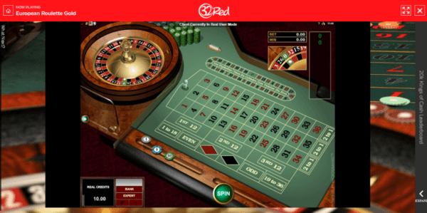 32Red Casino Roulette Table