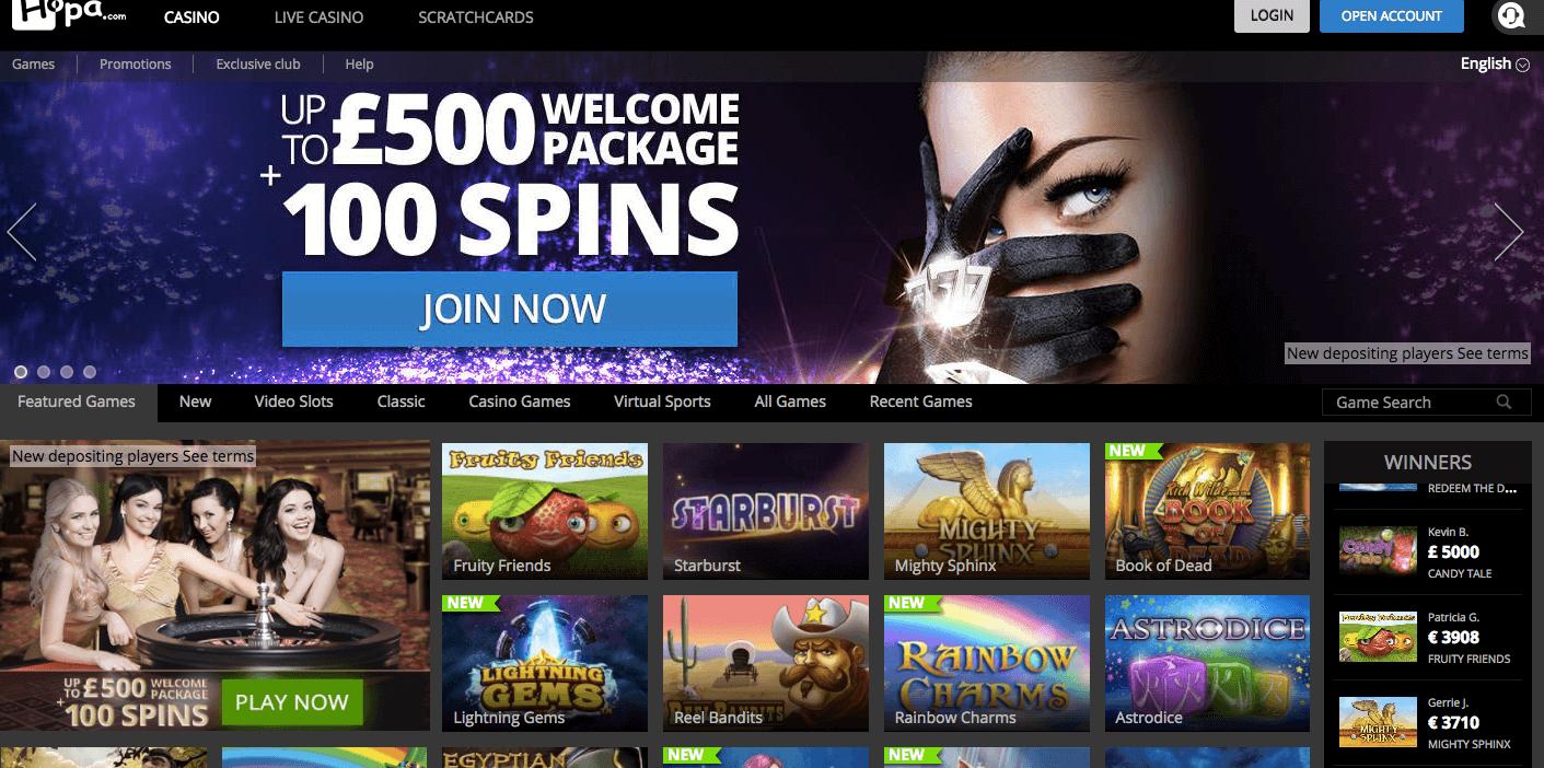 Enter Hopa's Online Casino
