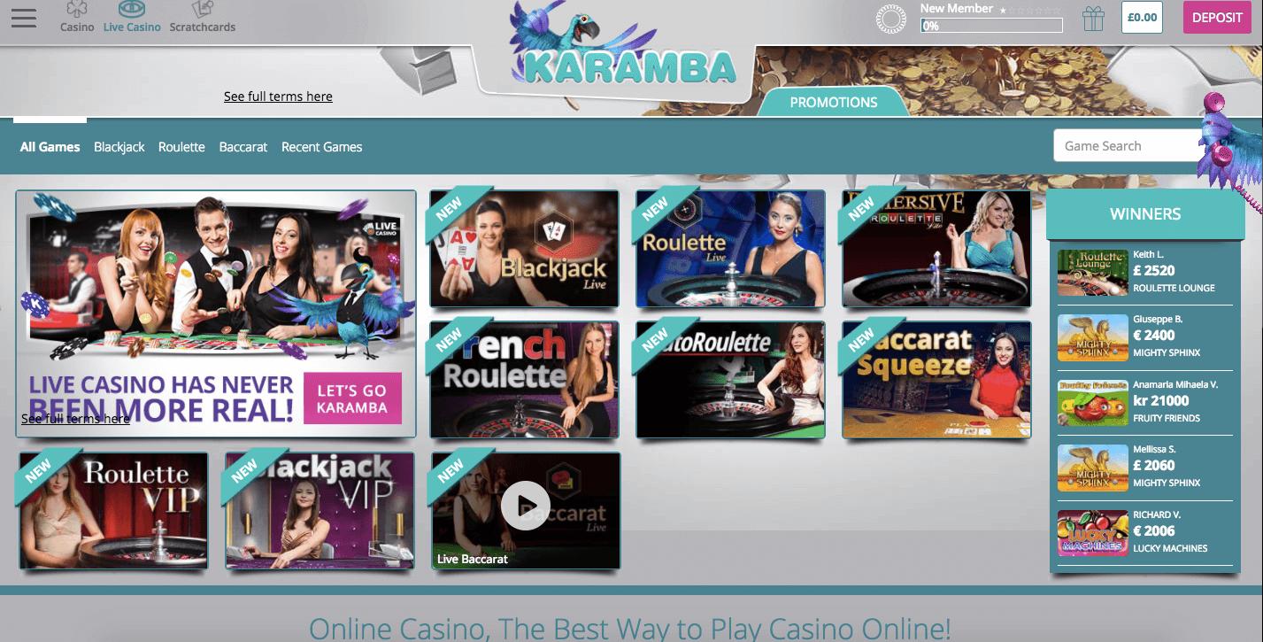 Karamba Online Casino Review 2017
