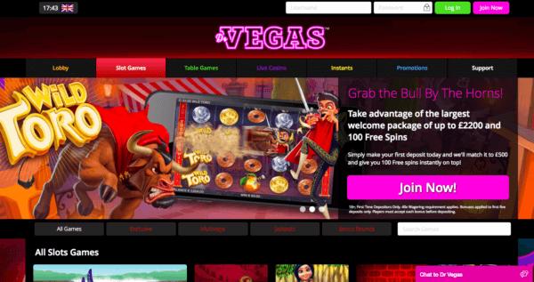Get your no deposit bonus on DrVegas!