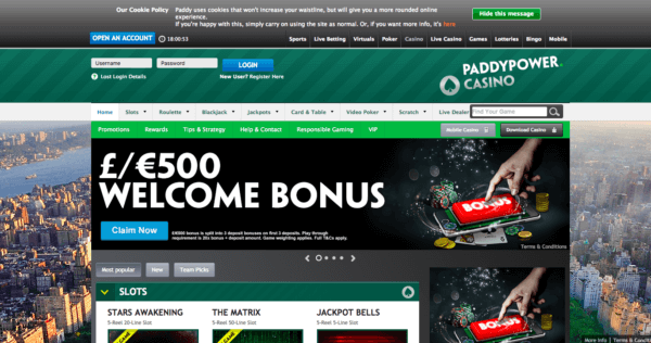 PaddyPower, A Great Online Casino