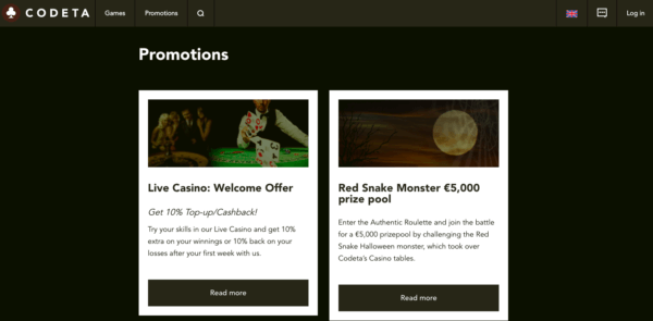 Codeta's promotions change with the seasons!