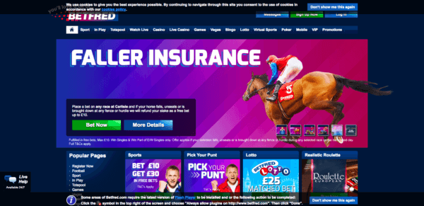 Betfred offers a very wide range of games