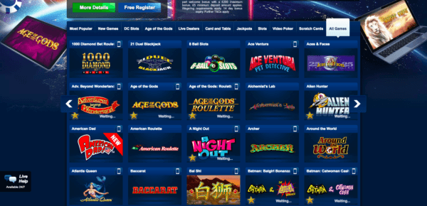 Choose among all Betfred's amazing games!