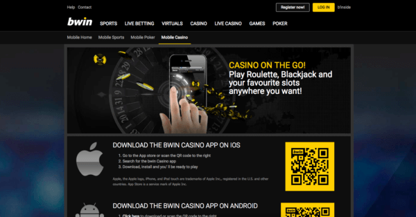bWin is compatible both on IOS and Android.