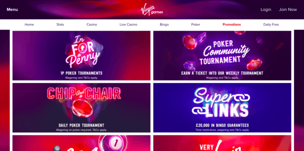 Enjoy Great Promotions on Virgin Games!