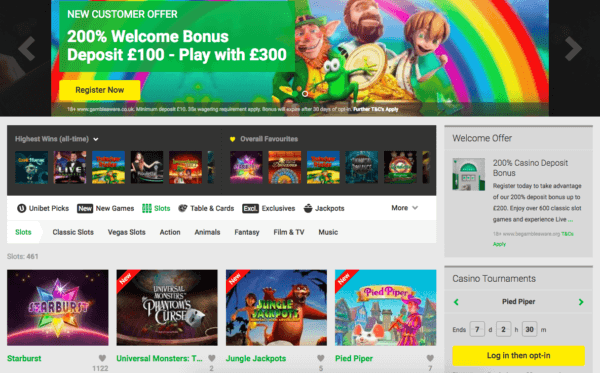 Enjoy Spins on UniBet!