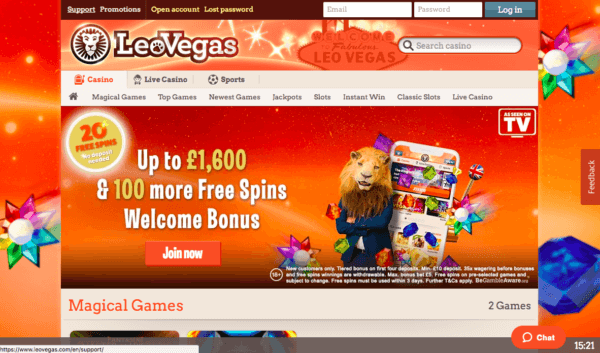 Free spins when signing up!