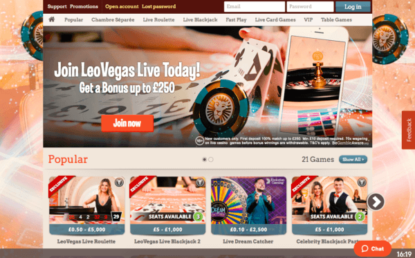 Sign-up on LeoVegas for free spins!