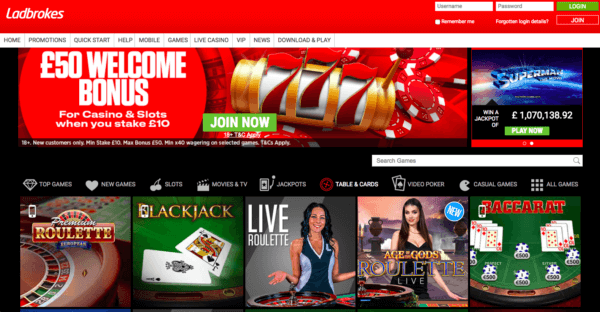 Ladbrokes, a Great Online Casino