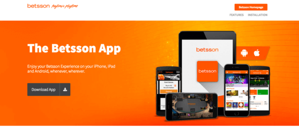 Betsson is Available on Every Platfom