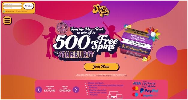 Slots baby new UK online casino