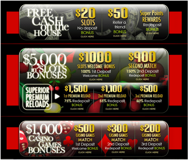 Superior casino bonus offers