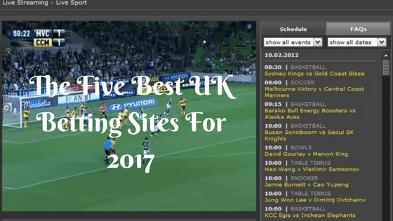 The Five Best UK Betting Sites For 2017