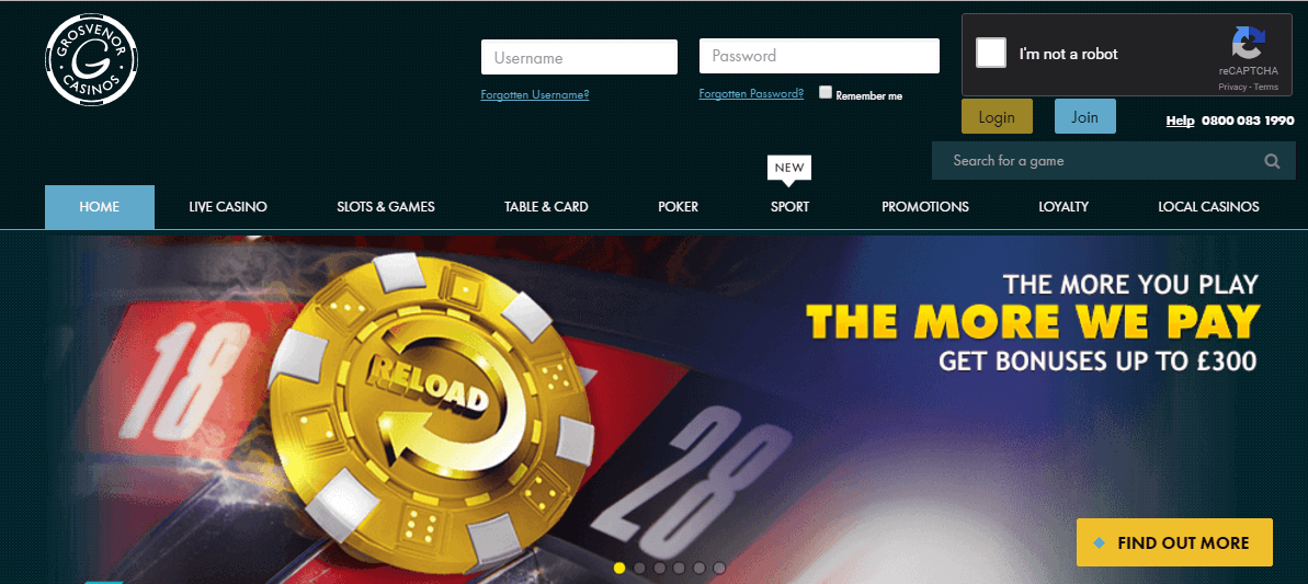 The g casino slots royale casino