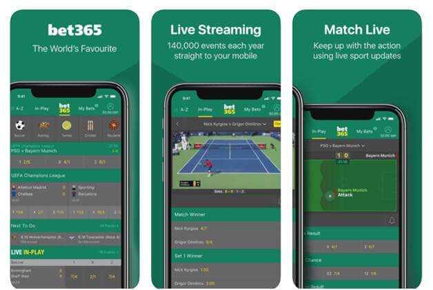 Bet 365 Bookie app