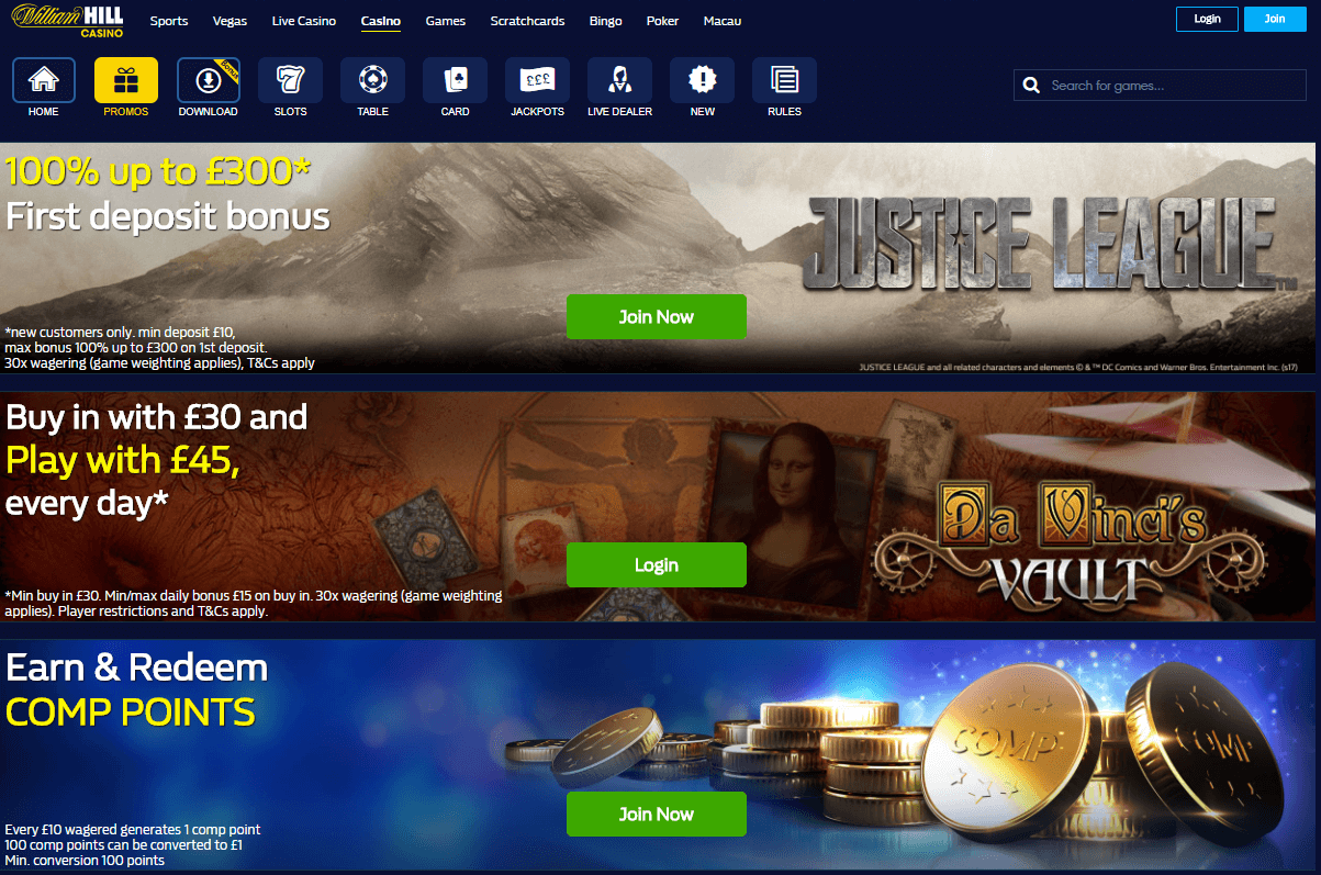 William Hill Bonuses