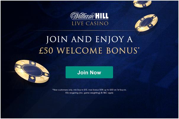 William Hill Casino Live Bonus